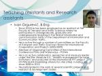teaching assistants and research assistants4