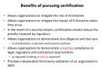 benefits of pursuing certification