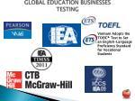 global education businesses testing
