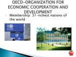 oecd organization for economic cooperation and development