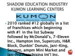 shadow education industry kumon learning centers