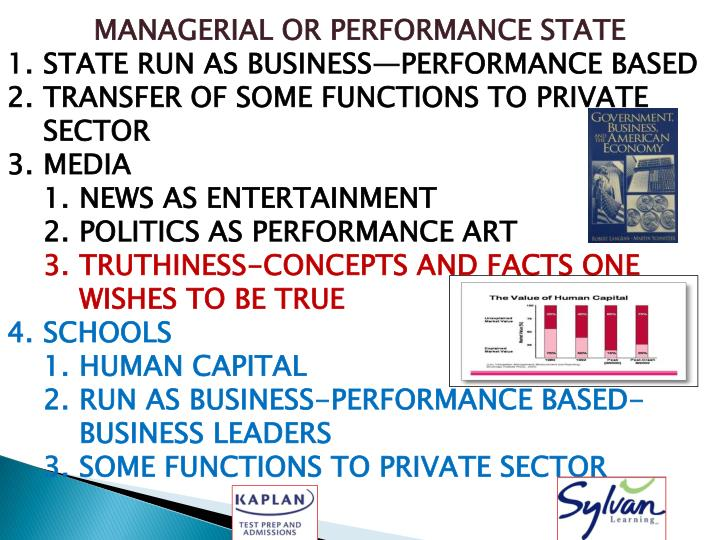 MANAGERIAL OR PERFORMANCE STATE