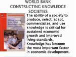 world bank constructing knowledge societies