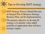 tips to develop is it strategy
