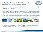 infodev s climate technology program is helping developing countries seize this opportunity