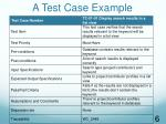 a test case example