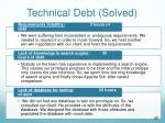 technical debt solved