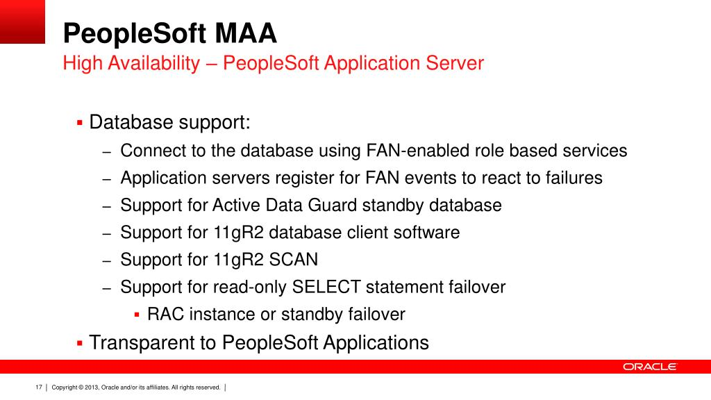 PPT - PeopleSoft Adoption of Oracle Database Technology CON8588