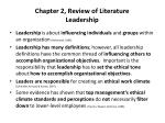 chapter 2 review of literature leadership