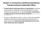 chapter 5 conclusions and recommendations transformational leadership s effect