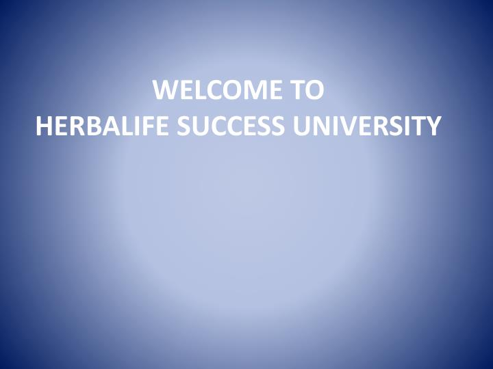 welcome to herbalife success university n.