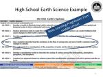 high school earth science example