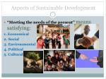 aspects of sustainable development