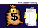 cash deposit summary1