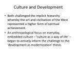 culture and development1