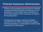 financial assistance administration