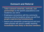 outreach and referral