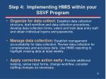 step 4 implementing hmis within your ssvf program