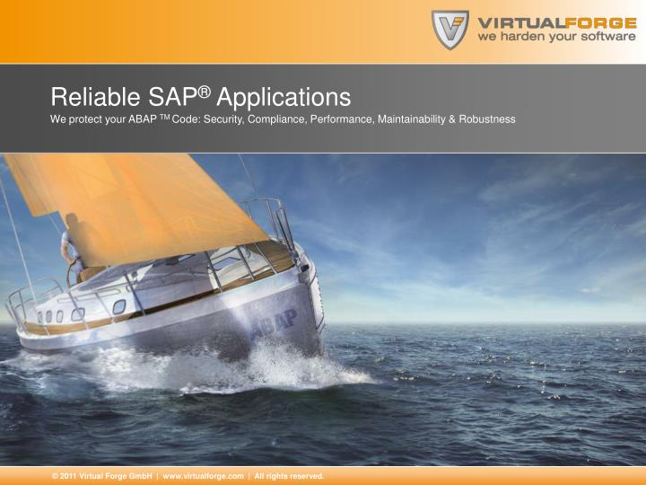 reliable sap applications n.