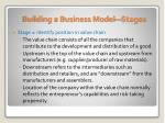 building a business model stages