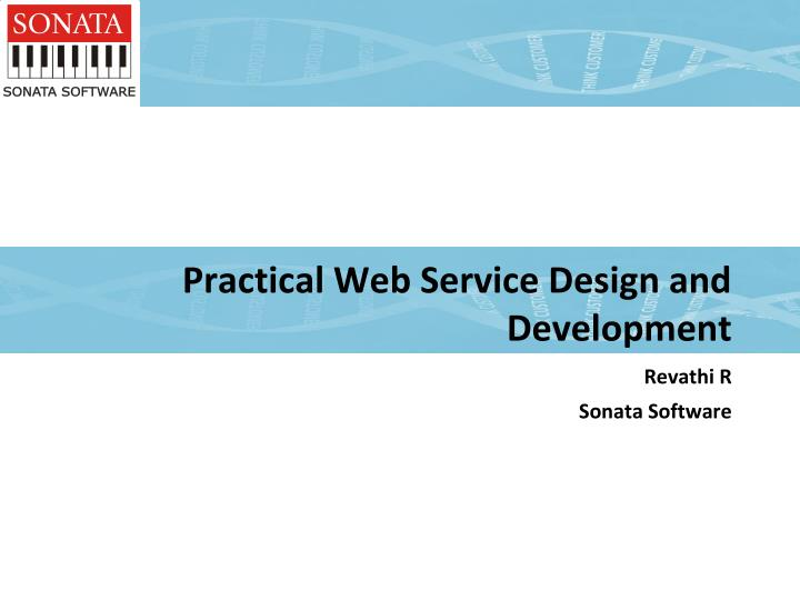 practical web service design and development n.
