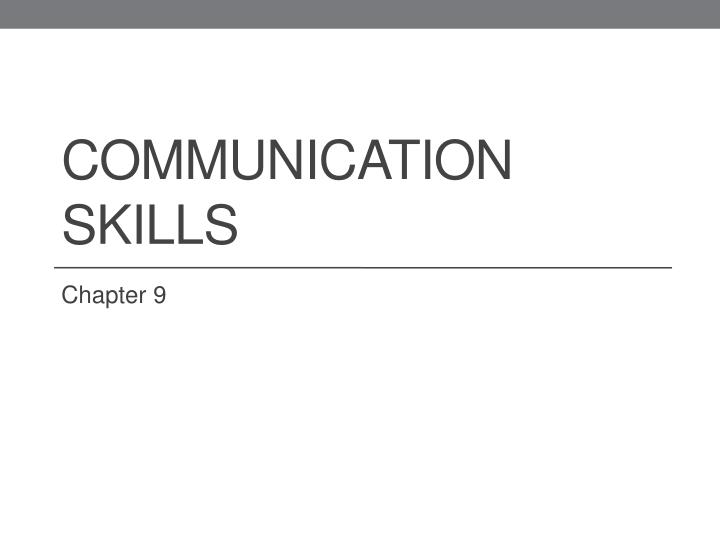 communication skills n.