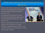 embracing international cooperation in the arctic