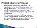 project charters process