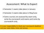 assessment what to expect