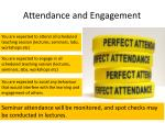 attendance and engagement