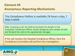 element 4 anonymous reporting mechanisms1