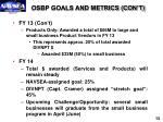 osbp goals and metrics con t
