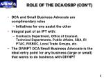 role of the dca osbp con t