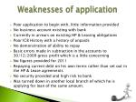 weaknesses of application1