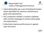 responsible care codes of management practices1