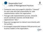 responsible care codes of management practices5