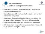 responsible care codes of management practices8
