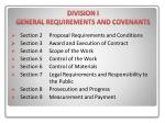 division i general requirements and covenants1