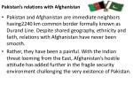 pakistan s relations with afghanistan