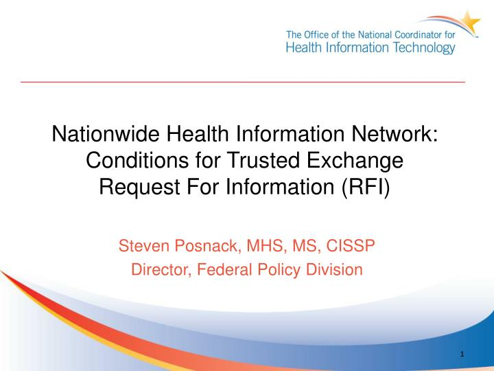 nationwide health information network conditions for trusted exchange request for information rfi n.