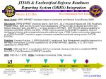 jtims unclassified defense readiness reporting system drrs integration