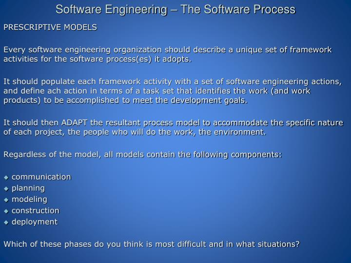 software engineering the software process n.