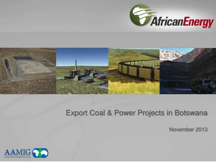 export coal power projects in botswana november 2013 n.