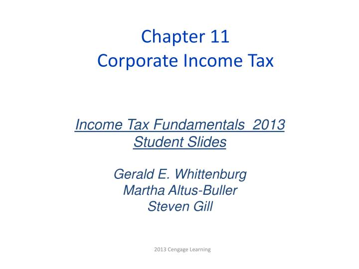 chapter 11 corporate income tax n.