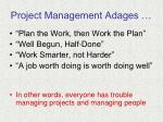 project management adages