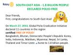 south east asia 1 8 billion people declared polio free