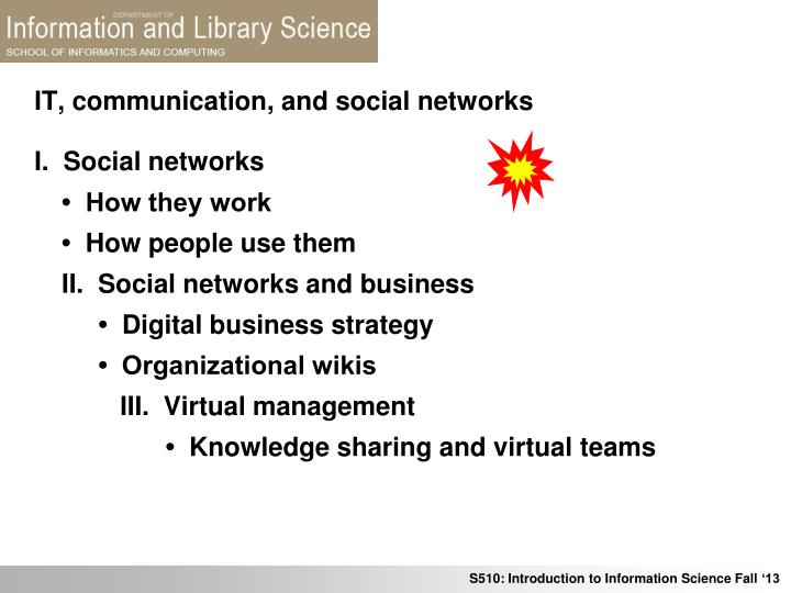 it communication and social networks n.