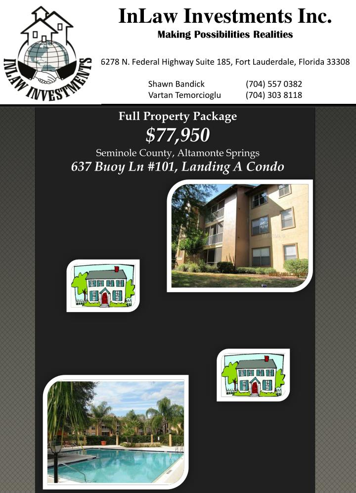 full property package 77 950 seminole county altamonte springs 637 buoy ln 101 landing a condo n.