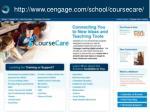 http www cengage com school coursecare