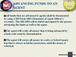 advancing funds to an agent
